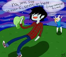 Marshall Lee and Fionna by kawaii-amy-x3