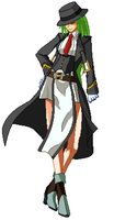 Hazama as a Girl - Sprite by SasuSakuLover94