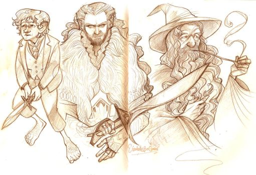 Hobbit sketches 1 by E-boc