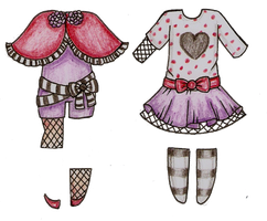 :C: Zairaah Bonus Outfits by Bee-chii