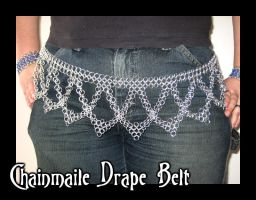 Chainmaile Drape Belt by crazed-fangirl