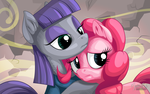 Maud and Pinkie by mysticalpha