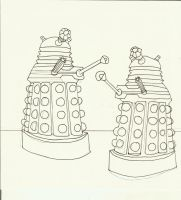 Daleks by sonickingscrewdriver