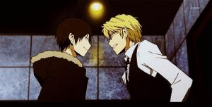 DRRR-Shizaya Talking [GIF] by Madame--Black
