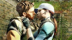Jill kisses Chris for the first time (Nooot) by LordHayabusa357