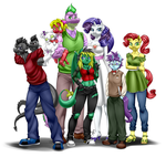 Commission - Big Family by Pia-sama