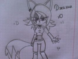 New Janine the fox look by SonicDX94