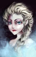 Elsa Messy Paint by Byakurin