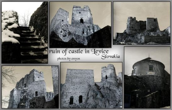 ruin - Levice - postcard style by enyon