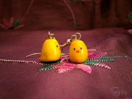 Gilbird Earrings by vesperianyx