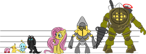 Height chart for fictional characters by CardinalCompanion
