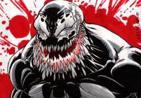 Venom sketch card by Grimmwerkz