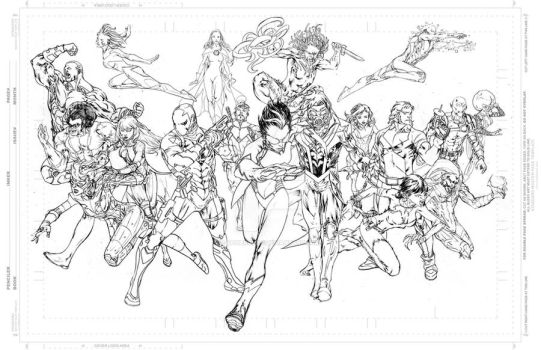 Sharp and his pals - pencils by SpiderGuile