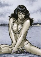 Bettie Page Artist Proof 02 by RichardCox