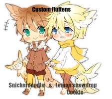 Drasticslostsoul Custom fluffens by Steamed-Bun