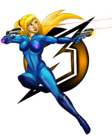 Twin Pistol Samus by Cryophase