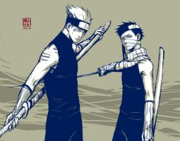 Naruto: young Kisame and Zabuza by mick347