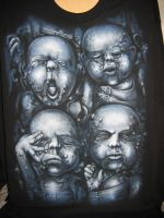 HR Giger 'Babies' shirt by Evoke93