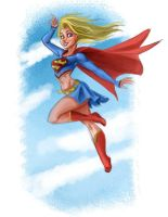 Supergirl Sketch by scotlanddbarnes