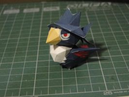 Chibi Honchkrow Papercraft by bslirabsl