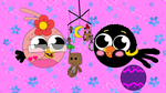 Janet and Myrick in Angry Birdies form by MaryPeachBird