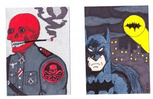 Red Skull and Batman by Scubacat17