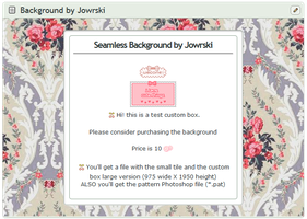 Vintage Floral Background for Custom box +*.pat by Jowrski