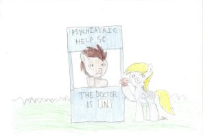 The doctor is In (MLP/D.Who/The Peanuts version) by BrogarArts