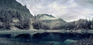 mountain lake by MiscReant1512