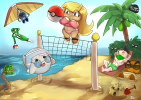 Gaijin Gamers Beach Party by Nerdbayne