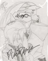 Ed and Al - Vic and Maxey Autograph by vegalume