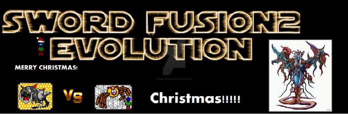 Sword Fusion Christmas Banner by Spider-Whazoo