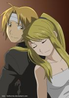 Ed and Winry [FMA] by Aethernie