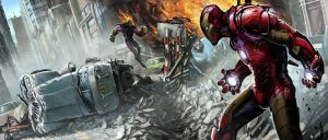 Iron Man street fight by BenWootten