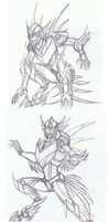 TF Legacy: Sunstreaker Sketches by Deathcomes4u
