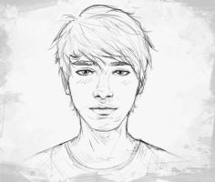 Sketchy portrait by Feakry