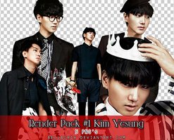 Render Pack #1 Kim Yesung by Bellacrix