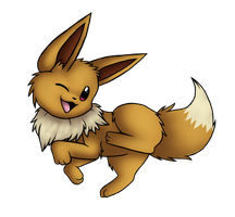 Eevee by krazykatdrawer