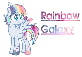 Rainbow Galaxy by PaintySplashy