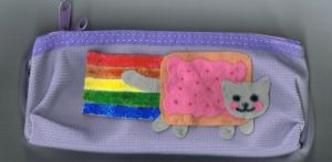 My Nyan pencil-case by Onayee