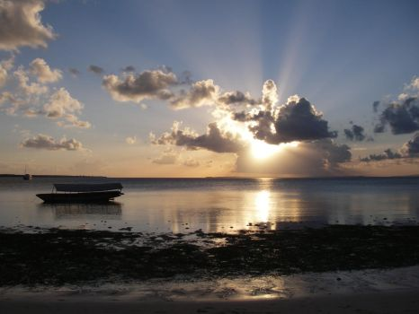 Sunset on an island in Sulawesi, Indonesia by ColliFlower86