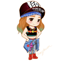 Taeyeon IGAB Fan Art png by HanaBell1