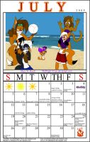July Calender 2009 by MidNight-Vixen