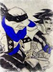 TMNT Dark Leo Blue and Karai Comic by wrightmother