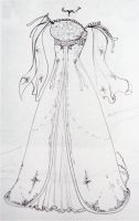 Wedding Dress Design pt. 2 by kamiiyu