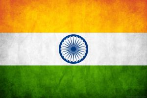 India Grunge Flag by think0