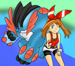 Hoenn Heroes: May and Mega Swampert by Xero-J