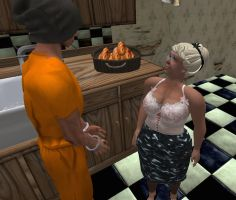 Apple Pie and Home Invasion at Aunt Meg's #9a by alpe4
