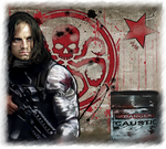 Bucky - Hydra by LadyMintLeaf