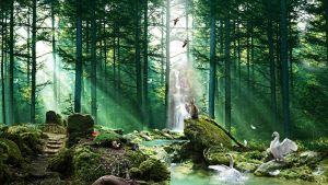 Forest of Tranquility by FantasyArt0102